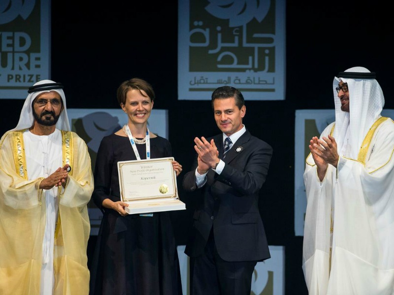 Kopernik Wins Prestigious Zayed Future Energy Prize 2016