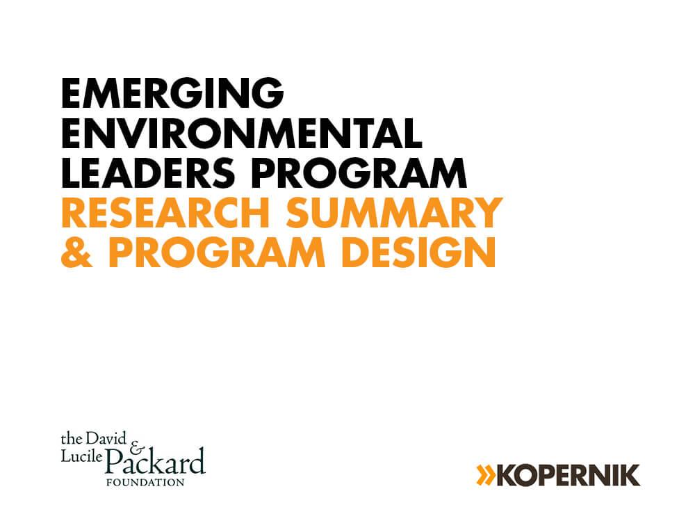 Emerging Environmental Leaders Program