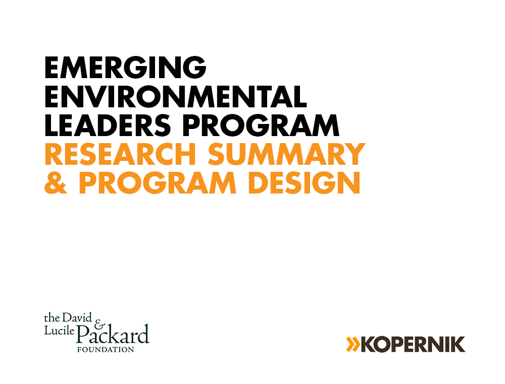 Emerging Environmental Leaders Program